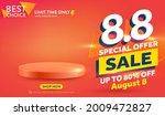 vector of 8.8 shopping day... | Shutterstock .eps vector #2009472827