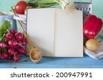 cookbook  vegetables  kitchen... | Shutterstock . vector #200947991