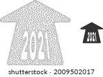 mesh 2021 forward arrow model... | Shutterstock .eps vector #2009502017