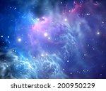 blue space nebula | Shutterstock . vector #200950229