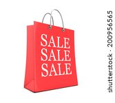 3d render of a shopping bag...   Shutterstock . vector #200956565
