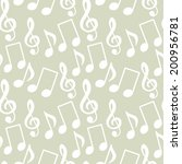 seamless pattern with musical... | Shutterstock .eps vector #200956781