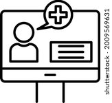 online checkup vector line icon ... | Shutterstock .eps vector #2009569631