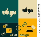 flat design style. business and ... | Shutterstock .eps vector #200957621