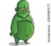 Ogre Green Monster Sad Man...