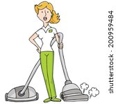 an image of female housekeeper... | Shutterstock .eps vector #200959484