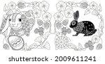 easter egg hunt in flowers....   Shutterstock .eps vector #2009611241