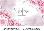 elegant hand drawn pink...   Shutterstock .eps vector #2009618207