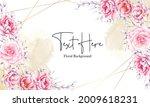 elegant hand drawn pink...   Shutterstock .eps vector #2009618231
