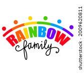 rainbow family. lgbt pride. gay ... | Shutterstock .eps vector #2009620811