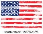 grunge usa flag  | Shutterstock . vector #200965091