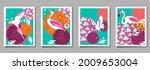 over  ewith pelican  parrot ...   Shutterstock .eps vector #2009653004