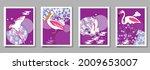 over  ewith pelican  parrot ...   Shutterstock .eps vector #2009653007