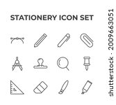 stationery set icon  isolated...   Shutterstock .eps vector #2009663051