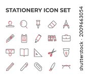 stationery set icon  isolated...   Shutterstock .eps vector #2009663054