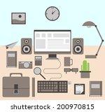 flat modern design vector... | Shutterstock .eps vector #200970815