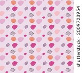 clam shells in pink and purple...   Shutterstock .eps vector #2009723954
