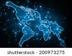 best internet concept of global ... | Shutterstock . vector #200973275