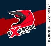 red motocross helmet logo with...   Shutterstock .eps vector #2009739617