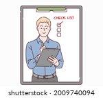 businessman writing to do list...   Shutterstock .eps vector #2009740094