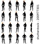 set of men silhouette. very... | Shutterstock . vector #200977301