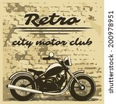 classic motorcycle club design... | Shutterstock .eps vector #200978951