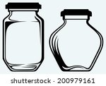 Glass Jars. Image Isolated On...
