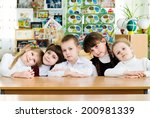 elementary school student in a...   Shutterstock . vector #200981339