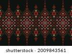 ethnic print fabric pattern.... | Shutterstock .eps vector #2009843561