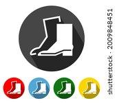 wear safety footwear flat style ...   Shutterstock .eps vector #2009848451