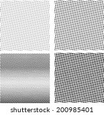 set of halftone background.... | Shutterstock .eps vector #200985401