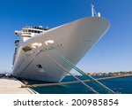 Cruise Ship Docked In The Port. ...