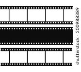 blank simple film strip set.... | Shutterstock .eps vector #200988389