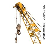 Big Yellow Construction Crane...