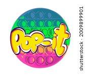 pop it antistress toy  rainbow... | Shutterstock .eps vector #2009899901