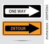 road sign  vector illustration  | Shutterstock .eps vector #200992061