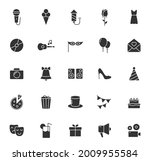 party silhouette vector icons...