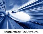Modern High Speed Train With...