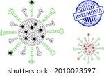 mesh polygonal contagious virus ...   Shutterstock .eps vector #2010023597