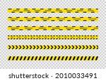 black and yellow caution tapes. ...   Shutterstock .eps vector #2010033491