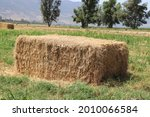 Large Square Bale Of Hay...