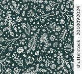 botanical vector doodle...   Shutterstock .eps vector #2010092024