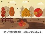 autumn fall season countryside...   Shutterstock .eps vector #2010101621