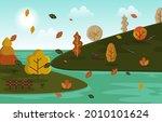 autumn fall season countryside...   Shutterstock .eps vector #2010101624
