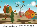 autumn fall season countryside...   Shutterstock .eps vector #2010101627