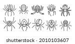 spider halloween doodle set.... | Shutterstock .eps vector #2010103607