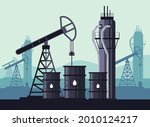 oil industry production concept.... | Shutterstock .eps vector #2010124217