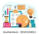 investment money business... | Shutterstock .eps vector #2010124811