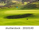 Golf Course Landscape With Cat...