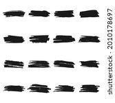 set of grunge brush strokes.... | Shutterstock .eps vector #2010178697